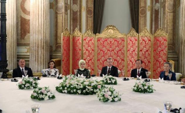 Cumhurbaşkanı Erdoğan, heyet başkanları onuruna akşam yemeği verdi.